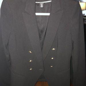 Size 2 black gold button blazer size 2